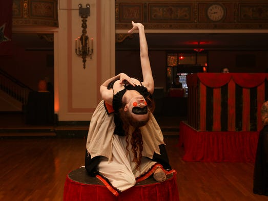 Thousands of costumed revelers filled the Masonic Temple