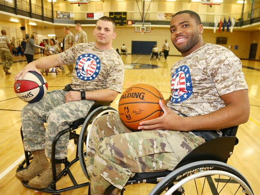 Participants during an event for Wounded Warriors at