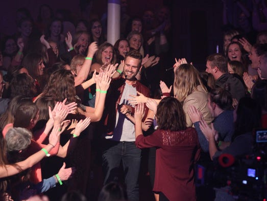 Nick Viall greets fans at the Pabst Theater during