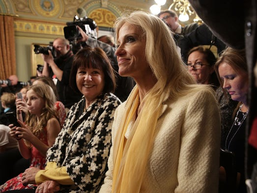 Conway and Karen Pence, wife of Vice President Pence,