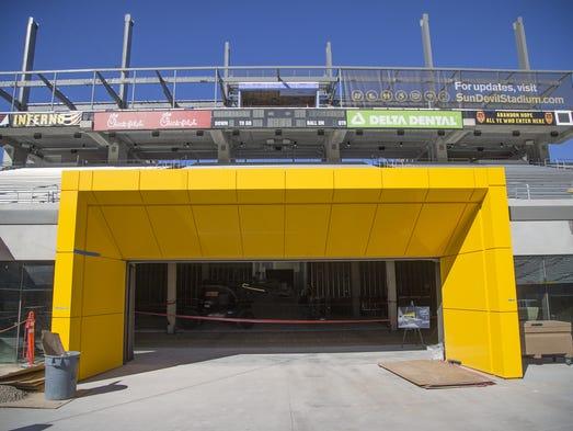 This will be the new Tillman Tunnel at Sun Devil Stadium.