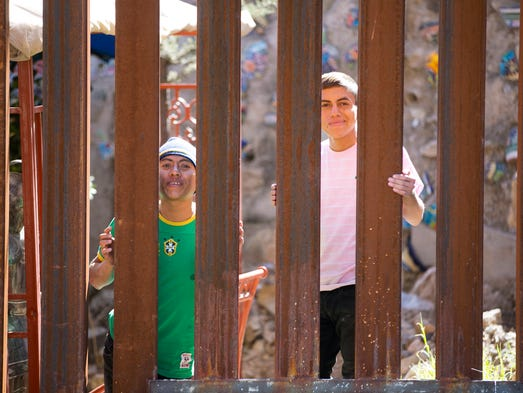 From the Nogales, Sonora, Mexico, side of the border,