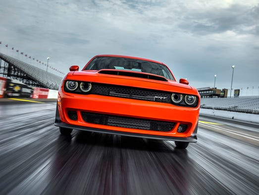 The 2018 Dodge Challenger SRT Demon on the track at