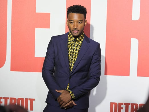 "Actor Algee Smith attends the world premiere of ""Detroit"""