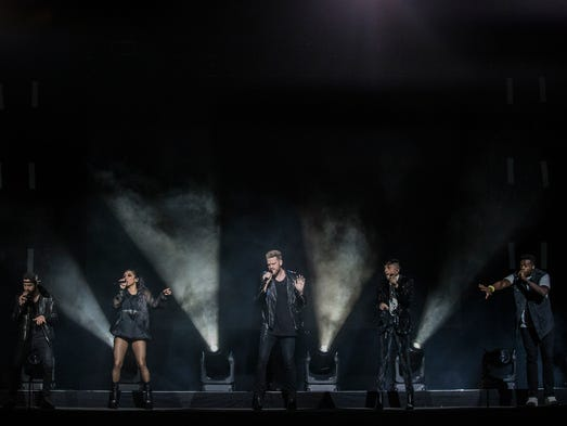 Pentatonix performs for a sold out crowd at the Iowa
