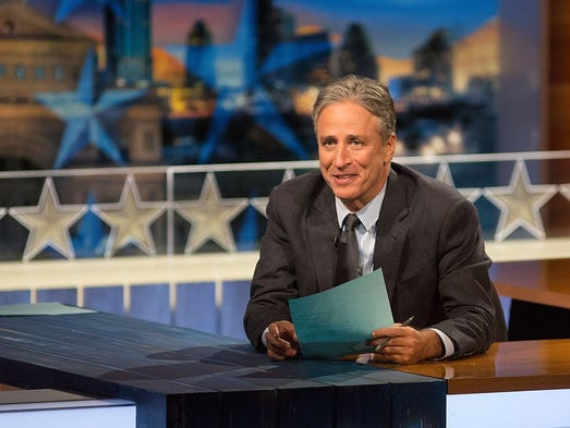 "Jon Stewart hosts ""The Daily Show."" He announced he"