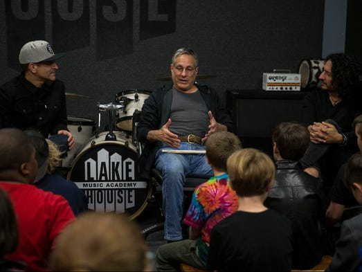 Max and jay weinberg hold drum clinic at lakehouse in for Jersey house music
