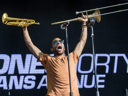 Trombone Shorty & Orleans Avenue performs at Firefly
