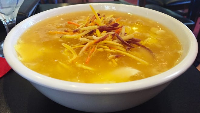 The Egg Drop Soup with shredded carrots. (Bowl $6.50, pictured. Cup $4.50)