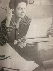 In this 1972 file photo, former Citizen-Times columnist