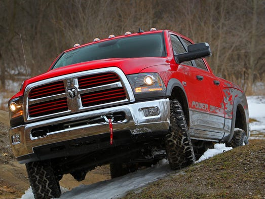 The big Hemi V-8 is meant for the roughest roads in the new Power Wagon