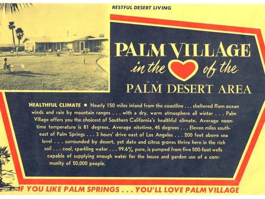 Palm Village land ad.