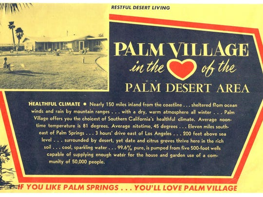 Palm Village land ad.