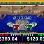 Screen shot from an Encore Gaming historical horse racing machine.