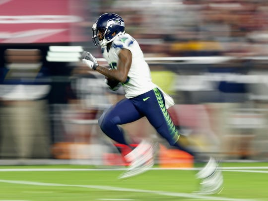 Paul Richardson of the Seattle Seahawks runs with the football Dec. 21.