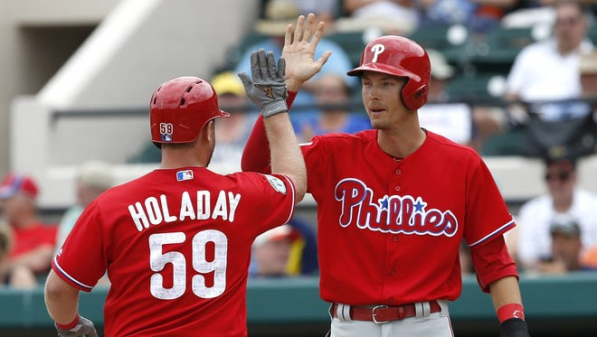 Tyler Goeddel, right, was claimed off of waivers by the Reds on Wednesday.