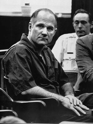 """Robert Marshall, guilty of hiring three men to kill his wife so he could continue an extramarital affair and collect $1.5 million in life insurance, which became the subject of a best-selling book and Tv-movie """"Blind faith"""" appears in this 1986 file photo. Trial was held in Mays Landing, N.J. (AP Photo)"""