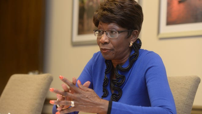 Ollie Tyler meets with The (Shreveport, La.) Times editorial board Nov. 20, 2014, as she campaigned in the runoff election for mayor.