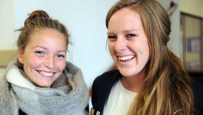 From left, Benedikte Hetland, 17, and Becca Warwick, 18, photographed at Salinas High School on Thursday, August 19th, 2016.