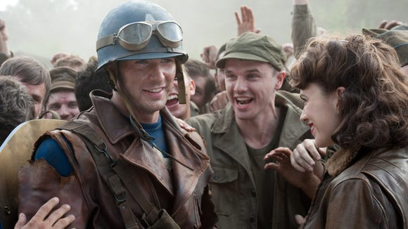 Steve Rogers (Chris Evans) supports his comrades.
