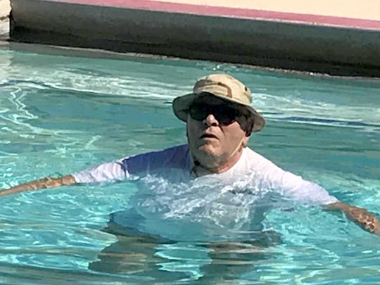 Jurgen Sievers, 77, is a retiree from Hamburg, Germany who frequents the therapy pool every Tuesday and Thursday at the Sam Baca Aquatic Center.