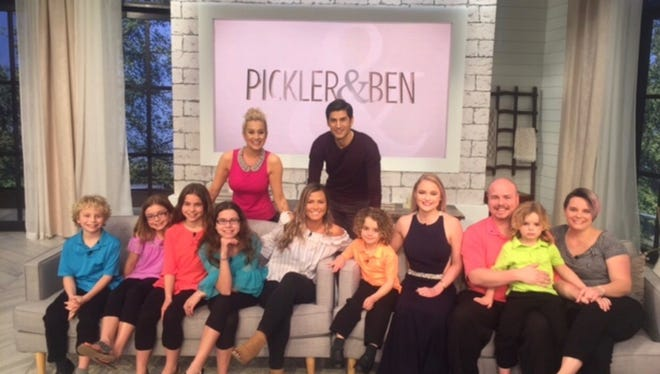 The Wood family appears with Oakland High School seniors Mandi Miller and Sydney Uselton on the 'Pickler & Ben' show regarding their story about a viral post.