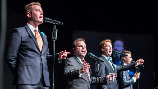 """In this file photo, The Tribute Quartet performs during the """"Jackson Sings the Gospel"""" concert at the Carl Perkins Civic Center."""