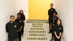Rufus King International Middle School students at