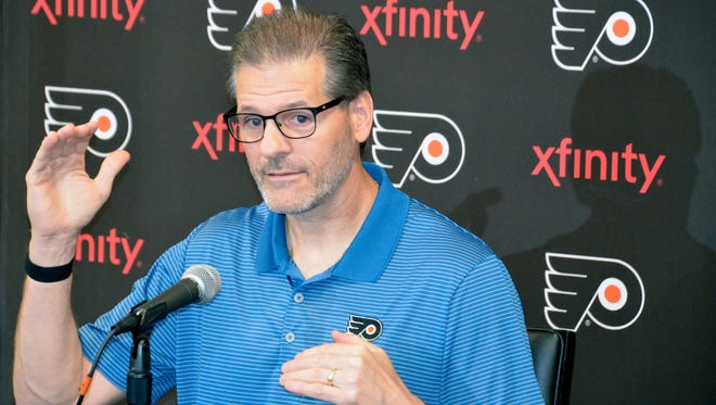 Ron Hextall holds the 14th and 19th picks in next week's draft, but may have to trade up to select a high-level talent.