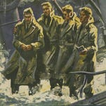 A painting of the Four Chaplains.