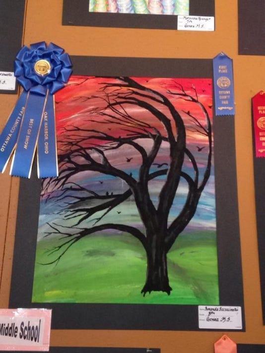 02 tree painting by Amanda Szczecinski