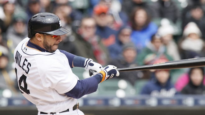 Entering Tuesday's game, Mike Aviles had just one at-bat in 10 days because Nick Castellanos and Ian Kinsler have been hot.