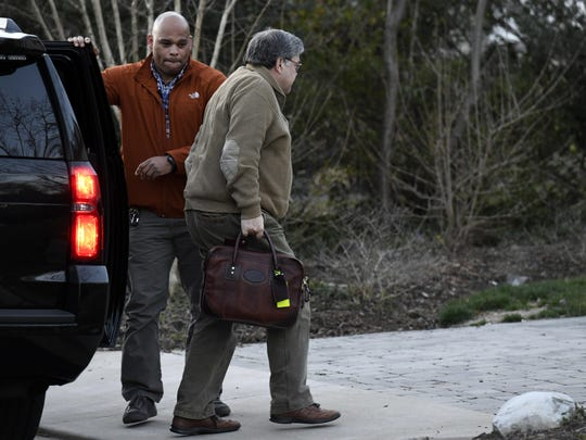 Attorney General William Barr arrives at his home in McLean, Va., on Saturday evening, March 23, 2019. Barr scoured special counsel Robert Mueller's confidential report on the Russia investigation with his advisers Saturday, deciding how much Congress and the American public will get to see about the two-year probe into President Donald Trump and Moscow's efforts to elect him. (AP Photo/Sait Serkan Gurbuz)