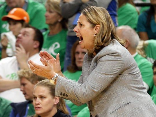 Minnesota Lynx head coach Cheryl Reeve directs her