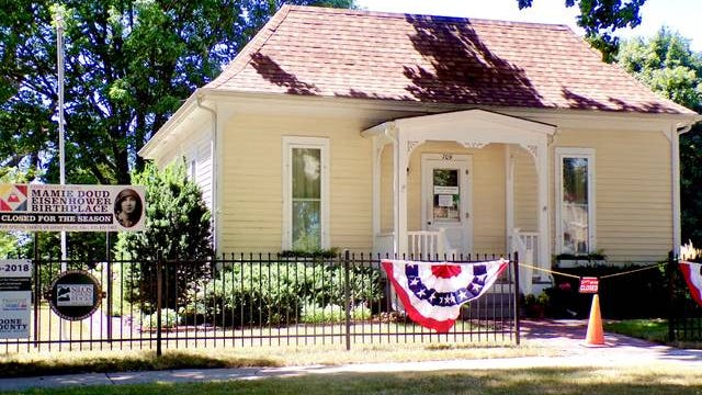 The Mamie Doud Eisenhower Birthplace, 709 Carroll St., is closed due to COVID-19. The Boone County Historical Society said the property has been landscaped and the home was recently cleaned and painted. All mold concerns were addressed. Photo by Sara Jordan-Heintz