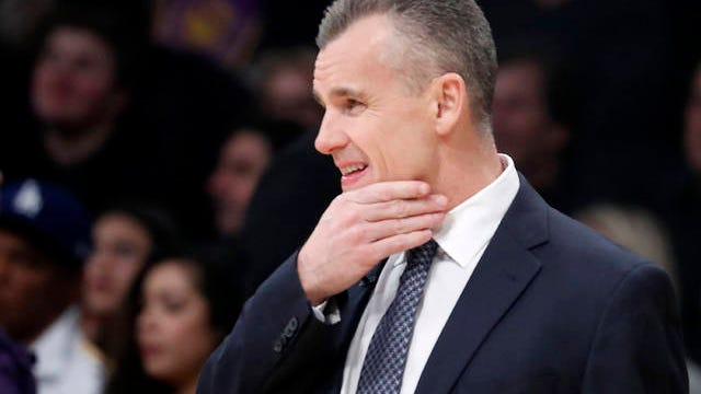 Oklahoma City Thunder head coach Billy Donovan watches the action from the sidelines against the Los Angeles Lakers on Wednesday, Jan. 2, 2019, at Staples Center in Los Angeles. Luis Sinco/Los Angeles Times/TNS file