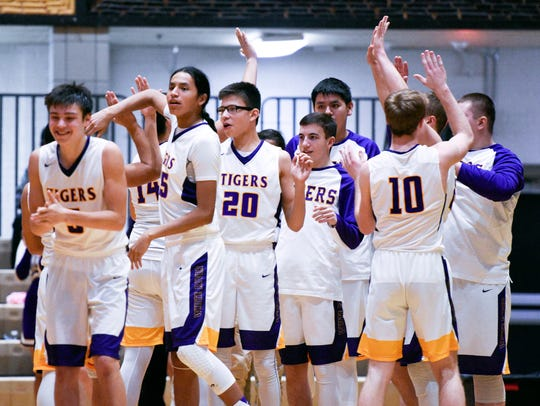 White River players celebrate after winning their high