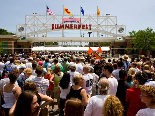 Last year 831,769 people turned out for the state's largest music festival Summerfest despite heavy rain on opening day.