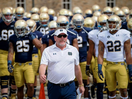 Notre Dame coach Brian Kelly now focuses on domestic