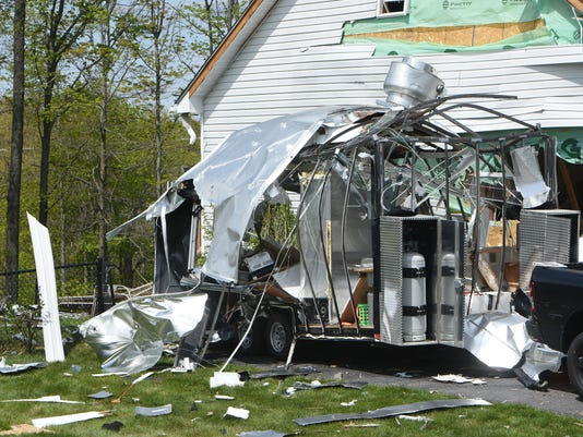 Exploded food truck
