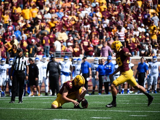 Former Ashwaubenon and University of Minnesota kicker Emmit Carpenter has earned a tryout with the Chicago Bears.