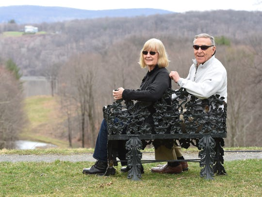 Albert and Julia Rosenblatt of the Town of LaGrange stand at the Locust Grove Estate in the Town of Poughkeepsie.