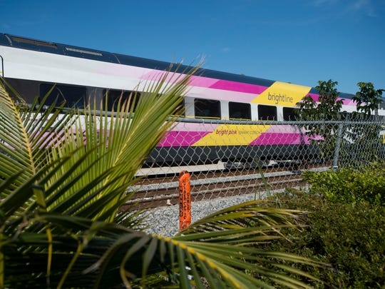 Indian River County continues its fight against the expansion of Virgin Trains, formerly Brightline, seen here Jan. 18, 2018 in Boynton Beach.