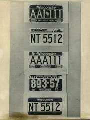Various Wisconsin License Plates