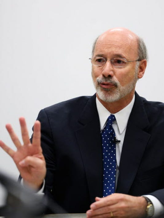 Gov.-Elect Tom Wolf as seen at the Oct. 23 York Daily Record/Sunday News Editorial Board interview. Photo by Kate Penn - Daily Record/Sunday News