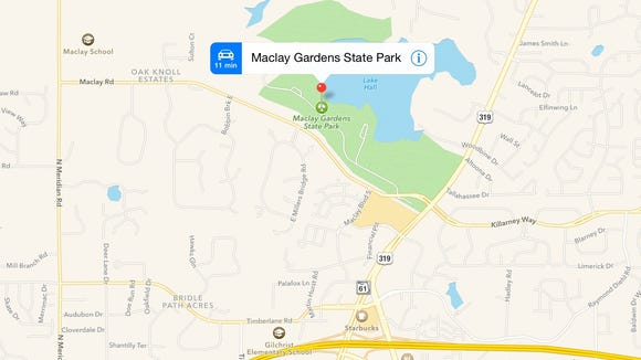 How to find Maclay Gardens State Park