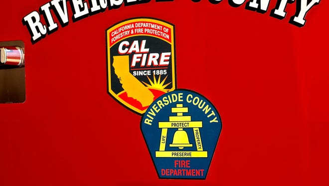 Riverside County Fire crews were battling a brush fire near Thermal Monday.