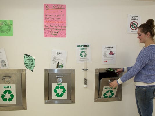 UWSP Residential Hall Recycling