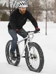 Travis Feller of Knicker Biker rides a Surly all terrain