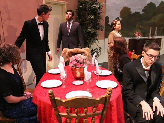 """Stage set for """"The Dinner Party"""""""